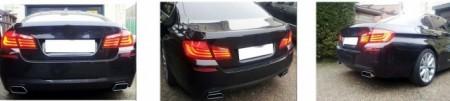 Imagens Ponteiras Escape tipo 550d - BMW - Série 5 F10 / F11