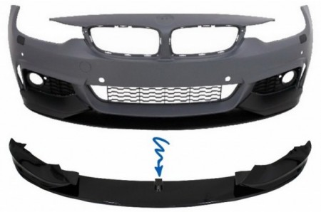 Imagens Spoiler Frontal Bmw Serie 4 F32 F33 F36 Performance (Coupe, Cabrio ou Grancoupe) Lip Frontal