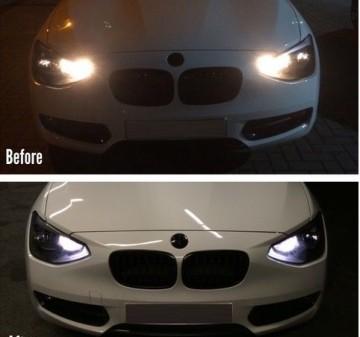 Imagens Conjunto Lampadas Diurnas BMW Serie 1 F20 F21 Lampadas Led Diurnas Bmw F20 F21 Serie 1