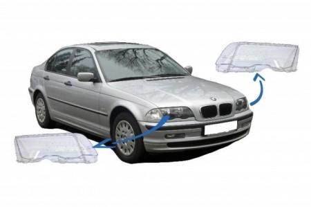 Imagens Conjunto LENTES / TAMPAS / VIDROS DE FAROIS - BMW Serie 3 E46 1ª Fase
