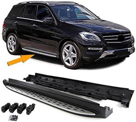 Imagens Estribos MERCEDES ML W166 Degraus em Aluminio MERCEDES ML W166 Embaladeiras MERCEDES ML W166