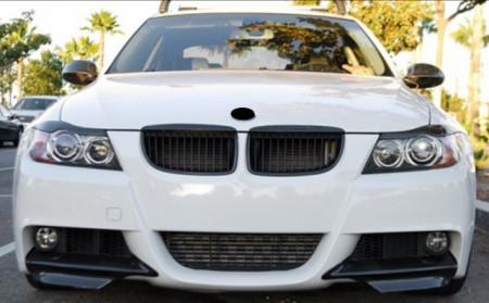 Imagens Conjunto Splitters / Lips Frontais BMW Serie 3 E90 / E91 (05-08) CARBONO REAL