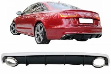 Imagens Difusor + Ponteiras Audi A6 LOOK RS6 - Audi A6 4G (2010-2014) TIPO RS6