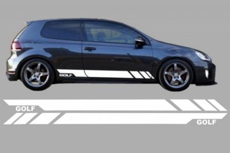 Imagens Conjunto Autocolantes Laterais VW Golf 5 6 7 V VI VII (2003- em diante)
