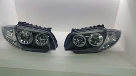 Imagens Conjunto Farois Look Xenon BMW Serie 1 E81 E87 E82 E88