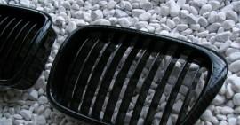 Imagens Grelhas Frontais Bmw Serie 5 - E39 Carro Carrinha - Pintura Carbono