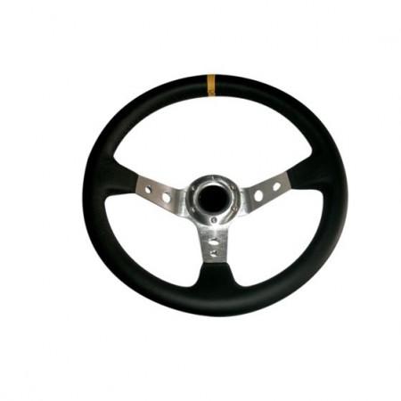 Imagens Volante Desportivo Rally Tipo OMP Pele Amarelo Chr