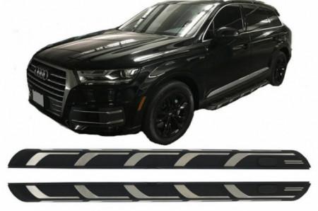Imagens Estribos Audi Q7 Degraus em Alumínio AUDI Q7 ( 2016- ) Embaladeiras Audi Q7