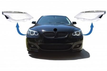 Imagens Conjunto LENTES / TAMPAS / VIDROS DE FAROIS BMW Serie 5 E60 E61