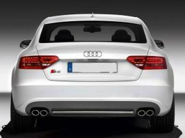Imagens Difusor Traseiro Audi A5 SPORTBACK 2007-2012 LOOK S5 ABS C/ PONTEIRAS