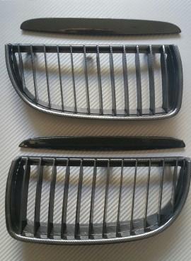 Imagens Grelhas Frontais Bmw Serie 3 - E90 ou E91 - 1ª Fase - Pintura Carbono