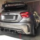 DIFUSOR AMG Mercedes A W176 + PONTEIRAS LOOK A45 AMG - MERCEDES CLASS A TIPO A45 AMG SPOILER TRASEIRO