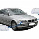 Conjunto LENTES / TAMPAS / VIDROS DE FAROIS - BMW Serie 3 E46 1ª Fase