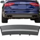 Difusor Traseiro Audi A4 B8 2012-2015 LOOK S4 ABS C/Ponteiras