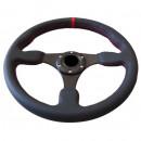 Volante Desportivo Rally Tipo OMP Pele Vermelho Blk Plano