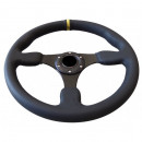 Volante Desportivo Rally Tipo OMP Pele Amarelo Blk Plano