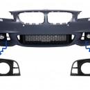Conjunto Grelhas Faróis Nevoeiro - BMW - F10 F11 LCI