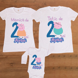 "Set aniversar personalizat ""Peppa party"""