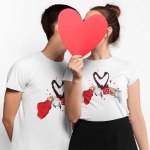 """Set tricouri personalizate cuplu """"Coffee love"""""""
