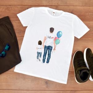 tricou personalizat tata cu baiat