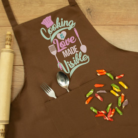 "Sort personalizat brodat ""Cooking is love"""