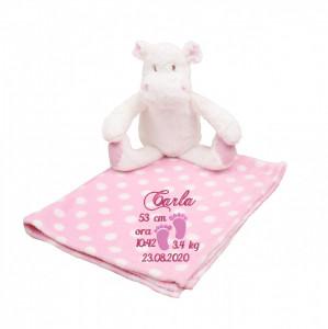 Hipopotam cu paturica personalizata