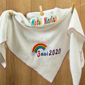 "Prosop personalizat brodat copii ""Rainbow"""