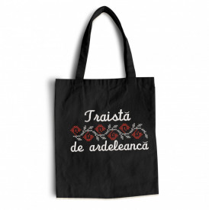 "Sacosa bumbac brodata personalizata ""Ardeleanca"""