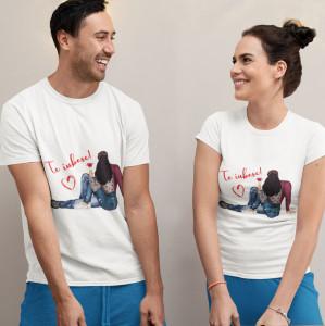 """Set tricouri personalizate cuplu """"Love&rose"""""""
