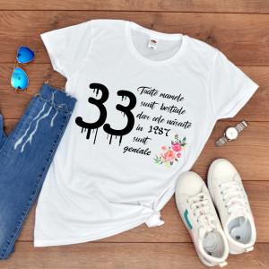 "Tricou personalizat ""Aniversare mama"""