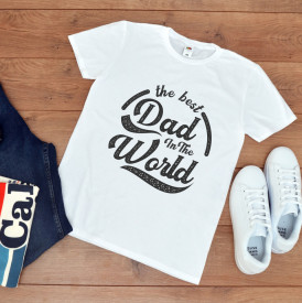 "Tricou personalizat ""Best dad in the world"""