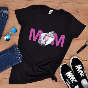"Tricou personalizat mama ""Mom&girl"""