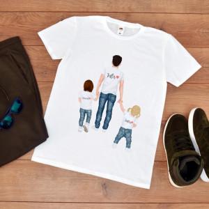 tricou personalizat tata cu fata si baiat