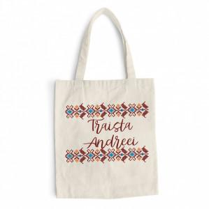 "Sacosa bumbac imprimata personalizata ""Traditionala"""
