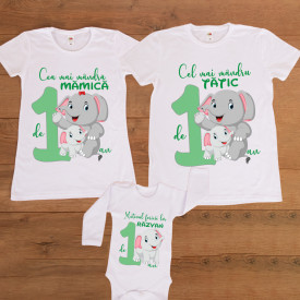 "Set aniversar personalizat ""Elephant party"""