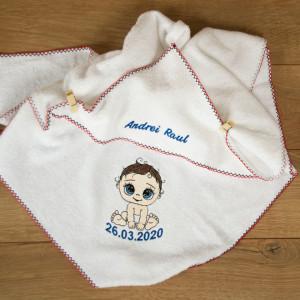 "Prosop personalizat brodat copii ""Baby born"""