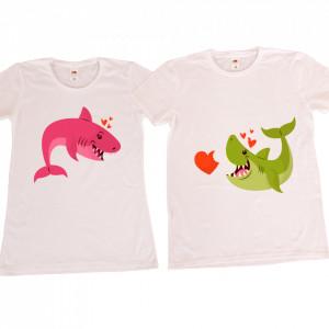 Set tricouri personalizate cuplu