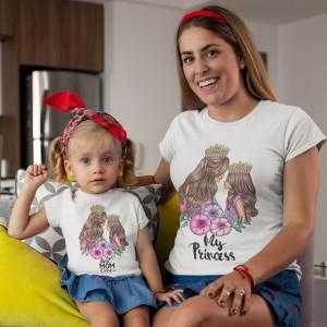 "Set tricouri personalizate mama ""Princesses"""