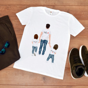 tricou personalizat tata cu baieti