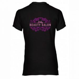"Tricou polo brodat personalizat ""Beauty salon"""