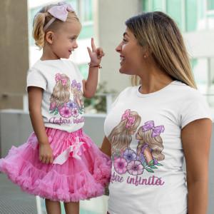 "Set tricouri personalizate mama ""Super love"""