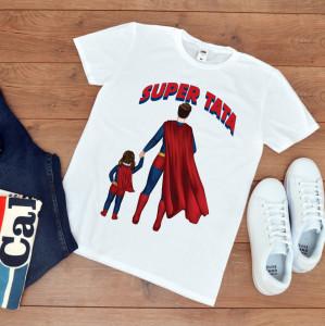 """Tricou personalizat """"Super tata cu fetita"""""""