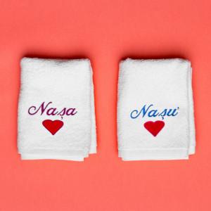 "Prosoape personalizate brodate nasi ""Love"""
