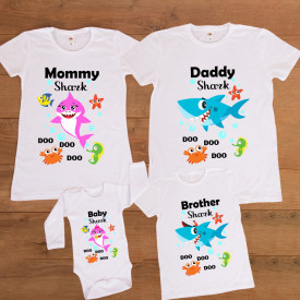 "Set familie personalizat ""Baby Shark"""