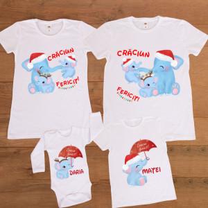 "Set familie personalizat ""Elefanti"""