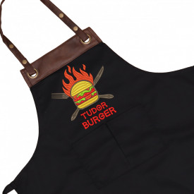 "Sort personalizat brodat ""Hot burger"""