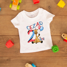 "Tricou copil ""Giraffe party"""