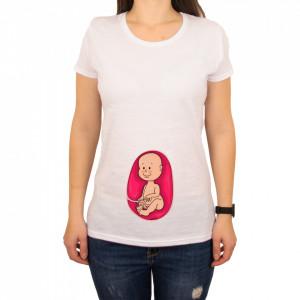 "Tricou femeie ""Baby belly"""