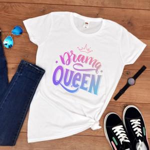 "Tricou personalizat petrecerea burlacitelor ""Drama queen"""