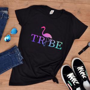 "Tricou personalizat petrecerea burlacitelor ""Flamingo tribe"""